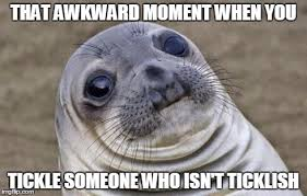 Tickle Memes - awkward moment sealion meme imgflip