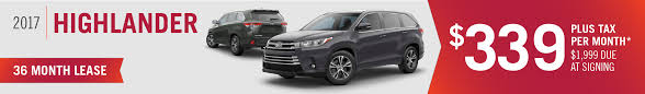 toyota lease phone number new toyota highlander in mission hills hamer toyota