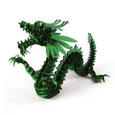 2017 halloween decoration 3d puzzle dragon paper craft kid toy for