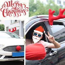 reindeer antlers for car online shop reindeer christmas decor car vehicle nose horn costume