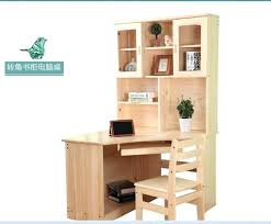 Pine Desk With Hutch Bookcase Unfinished Furniture Corner Bookcase Loxley Pine Corner