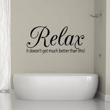 bathroom wall stickers relax quote vinyl wall sticker