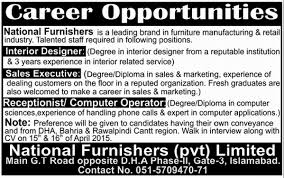 Interior Design Sales Jobs by Receptionist Job In National Furnishers Pvt Ltd Interior Designer