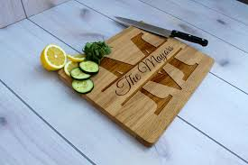 monogramed cutting boards buy made personalized cutting board engraved cutting board