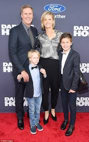 Seeking Will Ferrell Will Ferrell Takes Viveca Paulin And Sons Axel And Mattias To