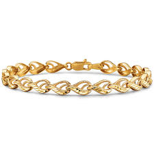 yellow gold bracelet with diamond images 10k yellow gold diamond cut 4 55mm link bracelet jcpenney