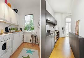 cuisine en longueur am駭agement haut 45 affichage aménager une cuisine en longueur cher