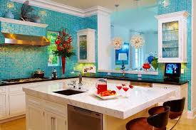 Teal Glass Tile Backsplash Kitchen Absolutely Gorgeous Kitchen - Teal glass tile backsplash