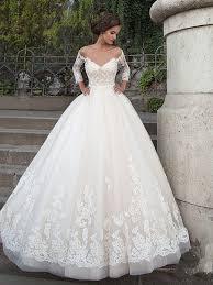 princess wedding dress three quarter sleeve backless lace princess wedding dress