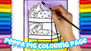 peppa pig and george pig bedtime coloring pages for kids youtube
