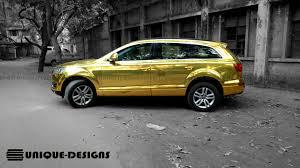 Audi Q7 Colors - gold chrome audi q7 wrap wrapfolio