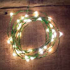 lights white with green wire pack of 10