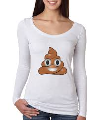 ladies halloween t shirts new way 119 women u0026 039 s long sleeve t shirt apple emoji