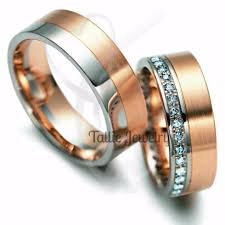 matching wedding bands his and hers matching wedding rings 10k gold two tone diamond wedding band his