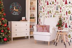 add holiday charm to your walls with christmas murals adorable home christmas wall sticker in traditional colors