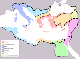 Caucasus Mountains World Map by Byzantine Empire Linguistic Divisions Under Justinian I C 560ce