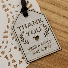 Wedding Gift Tags Personalized Laser Engraved Formica Wedding Gift Tags 4 Designs
