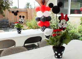 minnie mouse center pieces mickey and minnie centerpieces two