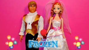 frozen dolls twin pack anna kristoff wedding dress
