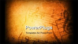 music template for powerpoint music score presentation treble clef