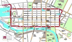 map of the free zone picture of city circle tram melbourne