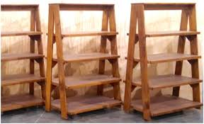 Pottery Barn Leaning Bookcase Fresh Your Interior With Ladder Display Shelf Design U2013 Modern