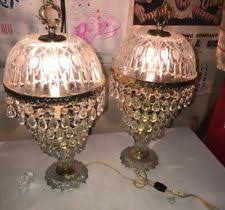 Adding Crystals To Chandelier Antique Crystal Lamp Ebay