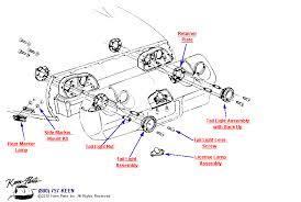 1979 corvette tail lights keen corvette parts diagrams