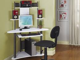 Wooden Corner Computer Desks For Home Small Office Wonderful Home Office Ideas For Small Spaces