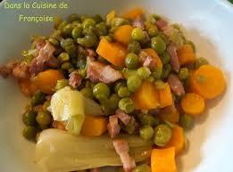 cuisiner les petits pois petits pois cuisson à la cocotte minute dans la cuisine de françoise