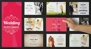wedding and anniversary postcards on graphicriver