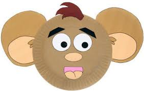 Paper Plate Monkey Craft - paper plate hamster craft
