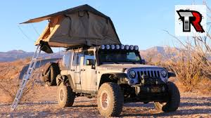 jeep wrangler overland tent roof top tent review smittybilt overlander youtube