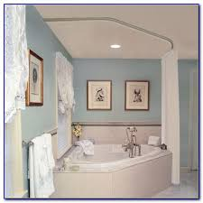Round Shower Curtain Rod For Corner Shower Round Shower Curtain Rod Bed Bath And Beyond Contemporary Curved