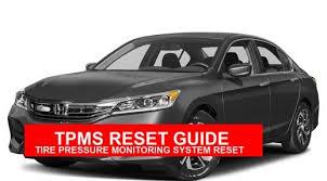 tpms honda accord 2008 honda accord 2008 2015 tpms reset mechanic handbook