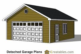 22x22 2 Car 2 Door Detached Garage Plans by Two Car Garage Plans 2 Door 1 Door At Coolhouseplans 28 Images