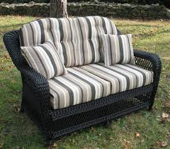 wicker settee cushions outdoor home design ideas