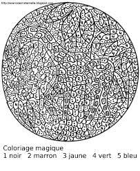 maternelle coloriage magique kleuren op nummer pinterest