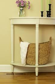 Entryway Table With Baskets Entryway Home Decorating Ideas The Organized