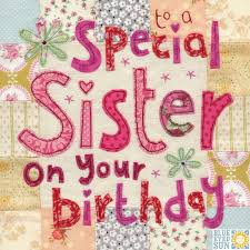special sister birthday card large luxury birthday card