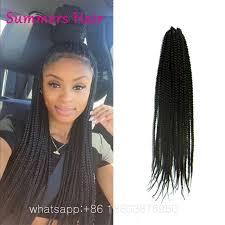 box braids hairstyle human hair or synthtic wholesale 18 3s crochet box braid hair 20stands pack box braids