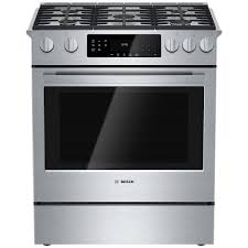 30 Inch 5 Burner Gas Cooktop Shop Bosch 800 Series 5 Burner 4 8 Cu Ft Self Cleaning Slide In