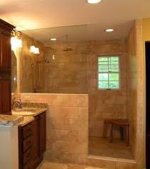 No Shower Door Shower Idea Half Wall No Door Pinteres