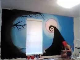 nightmare before christmas bedroom nightmare before christmas wall mural youtube