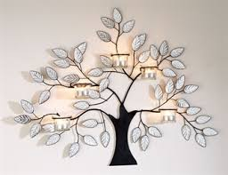 kleeneze shop black metal tree wall with delicate mirror