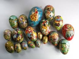 german paper mache easter eggs 19 pieces of paper mache easter eggs candy containers