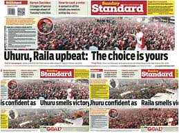 Election Maps Are Telling You Election In Kenya 2017 Newspapers Like Standard And The Nation