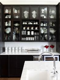 Cafe Doors For Kitchen Black Kitchen Cabinets With Glass Doors Video And Photos