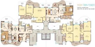 twin towers floor plans yash twin tower in baner pune price location map floor plan