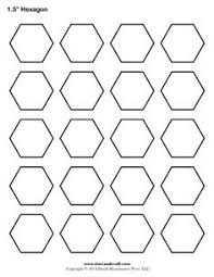 hexagon templates in various sizes also contains links to a lot